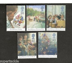 Faraway Tree Mnh Stamps Great Britain Sc#1771-75 Enid Blyton Books Noddy