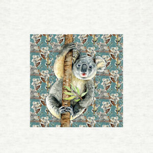 Koala Bear Fabric with repeat pattern Fabric PanelSewingCraft fabric