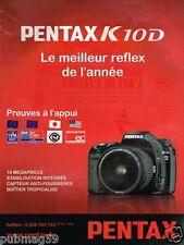 Publicité advertising 2007 Appareil Photo Pentax K 10 D