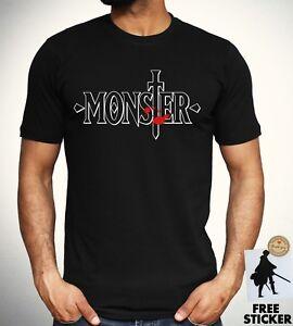 0bd62b7e463 Monster Logo T shirt Kenzo Johan Japan Anime Manga Cosplay Black Top ...