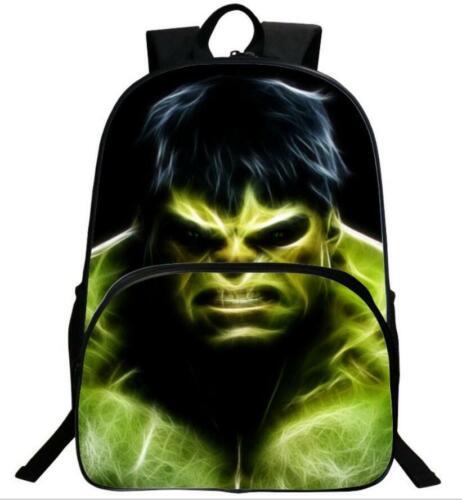 Hulk 3D Mode Imprimé Filles et Garçons voyage école Sacs à dos Y24
