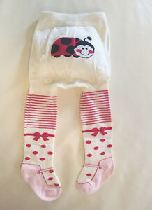 white ivory 3m 6m 12m New Baby Girls Cotton Knit Tights ..