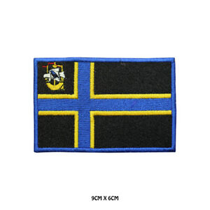 CAITHNESS County Flag Embroidered Patch Iron on Sew On Badge For Clothes Etc