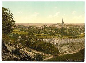 3 Vues Salisbury Wiltshire Cathédrale Repro Antique Vieilles Photos Set Neuf