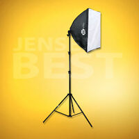 Photographic Studio Fluorescent Lighting Softbox 32in With Stand And Bulb