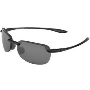 4e69fc8f190b7 Maui Jim Sunglasses Sandy Beach 408-02 Gloss Black 56mm for sale ...