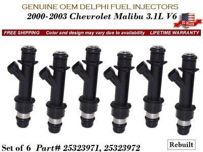 New Genuine GM DELPHI Fuel injectors Chevy//Buick//Oldsmobile//Pontiac 3.1L 3.4L