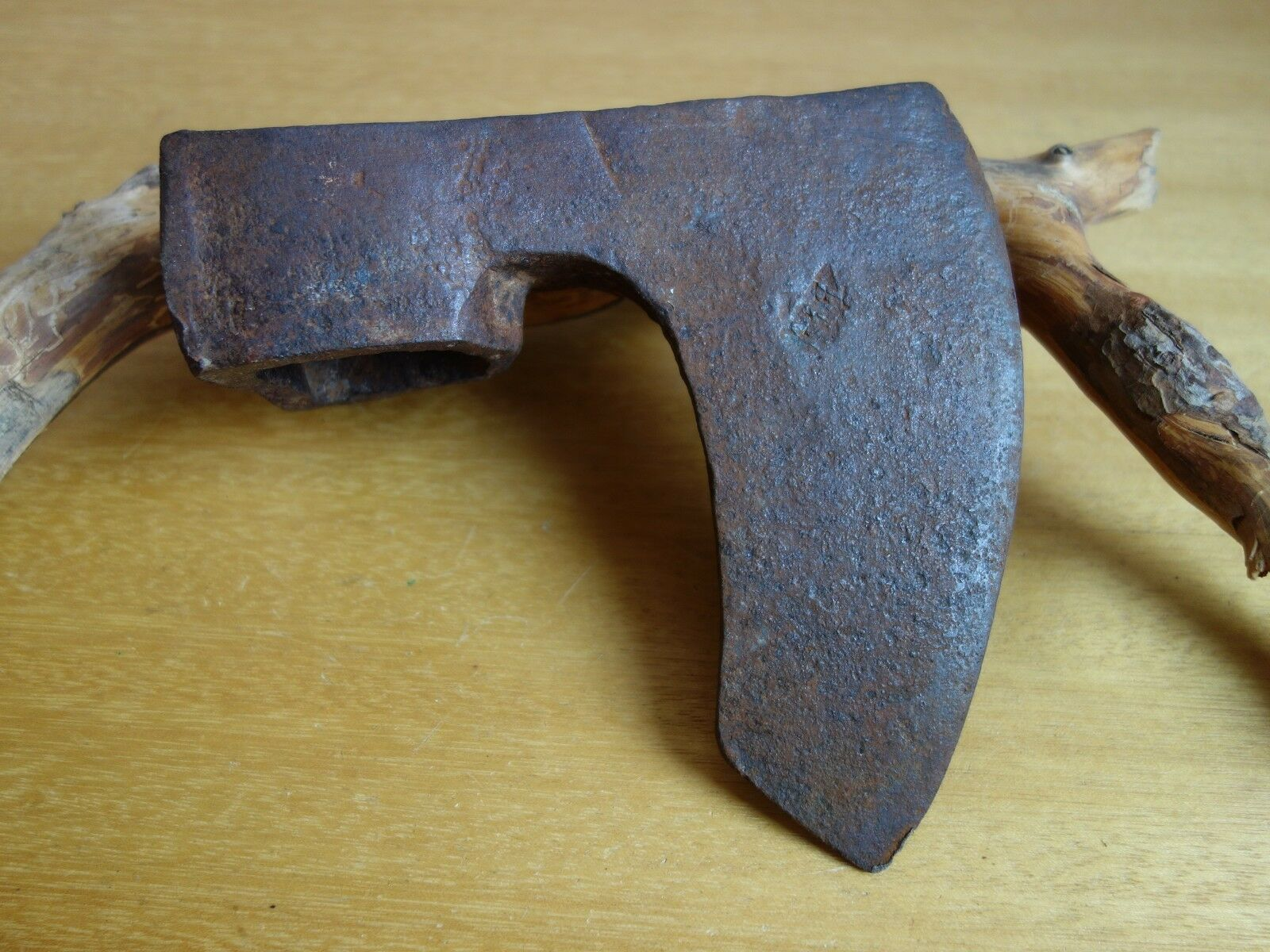 VTG OLD RARE 2.86LBS  FORGED VIKING BEARDED FELLING BROAD AXE HEAD HATCHET HIKING  up to 65% off