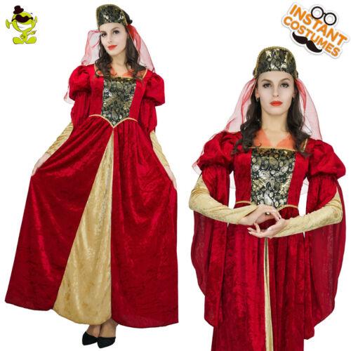 Adult/'s Women/'s Medieval Goddess Princess Queen Dress Costume