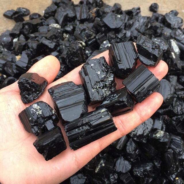 50g Natural Black Tourmaline Crystal Mineral Specimen Healing Stone Rough Rock