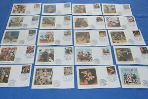 Liberia Boy Scout FDC set Rockwell BlueLakeStamps Attractive topical