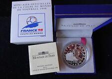 1997 SILVER PROOF FRANCE 1O FRANCS COIN BOX + COA WORLD CUP FRANCE 98 ITALY WINN