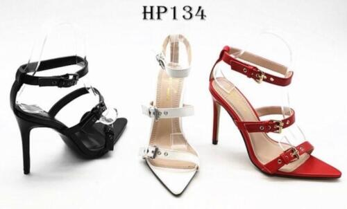 -HP134 Boutique Barely There Buckle Detail High Stiletto Heel Sandals Shoes