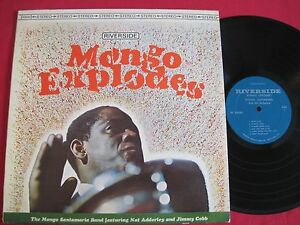 LATIN-JAZZ-LP-MONGO-SANTAMARIA-MONGO-EXPLODES-RIVERSIDE-93530-STEREO-VG