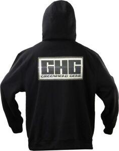 GHG-Logo-Wildfowlers-Pigeon-shooters-Black-Hoodie-Size-Medium