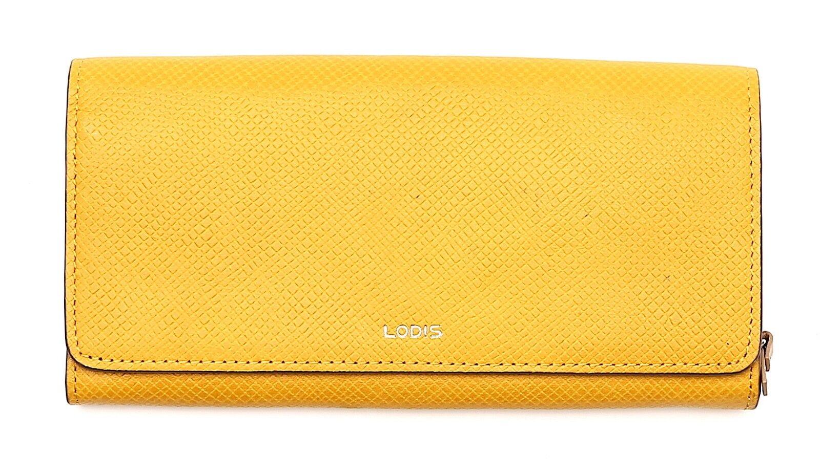 Lodis Woven Leather Mustard Women's Wallet Clutch 62212