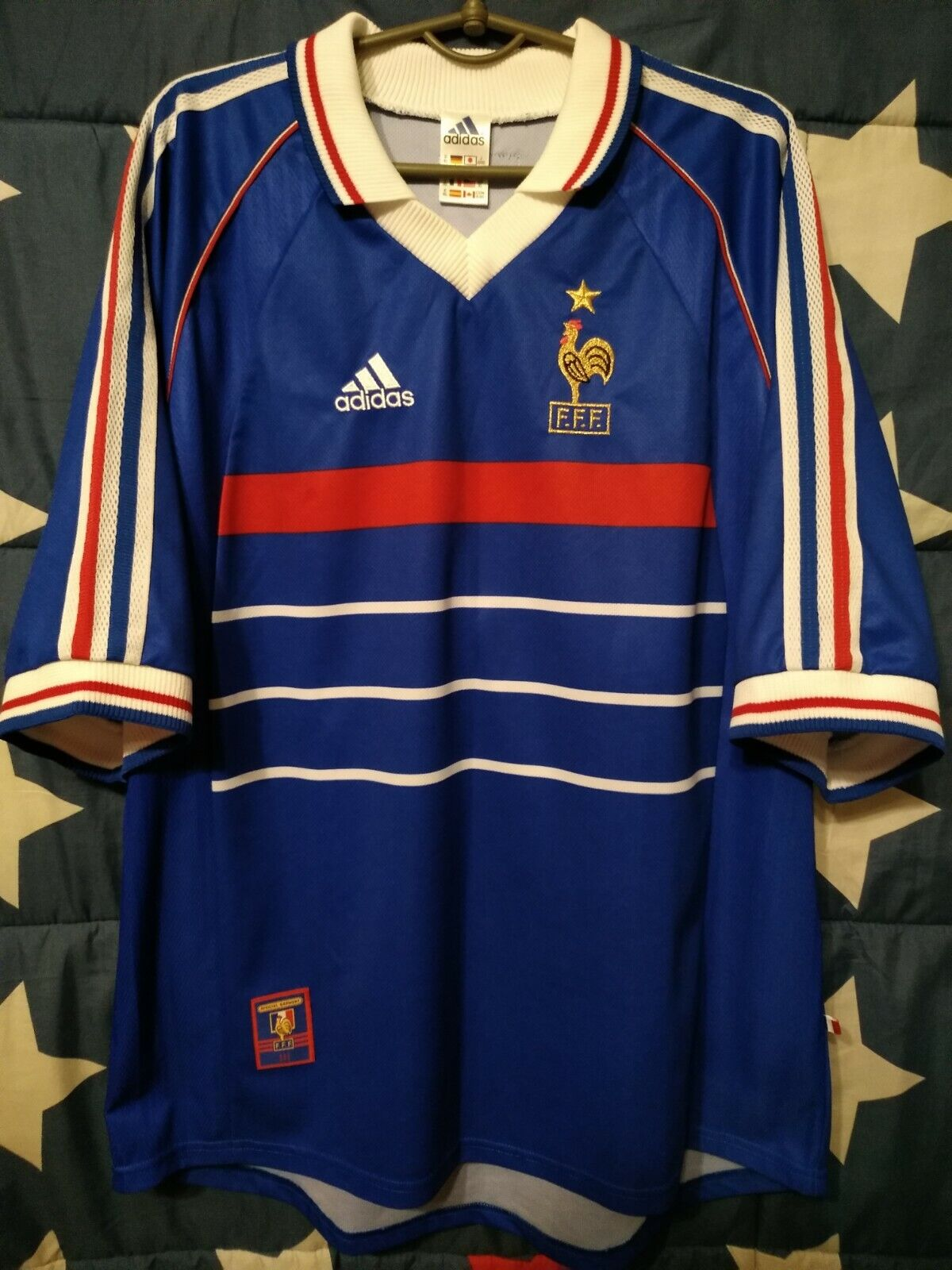 Dimensione XL FRANCE 1998 WORLD WORLD WORLD CUP HOME FOOTBtutti SHIRT JERSEY ec6