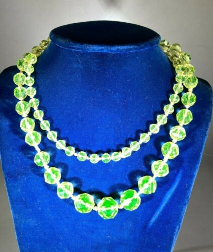 Caught in time uranium beaded Necklace