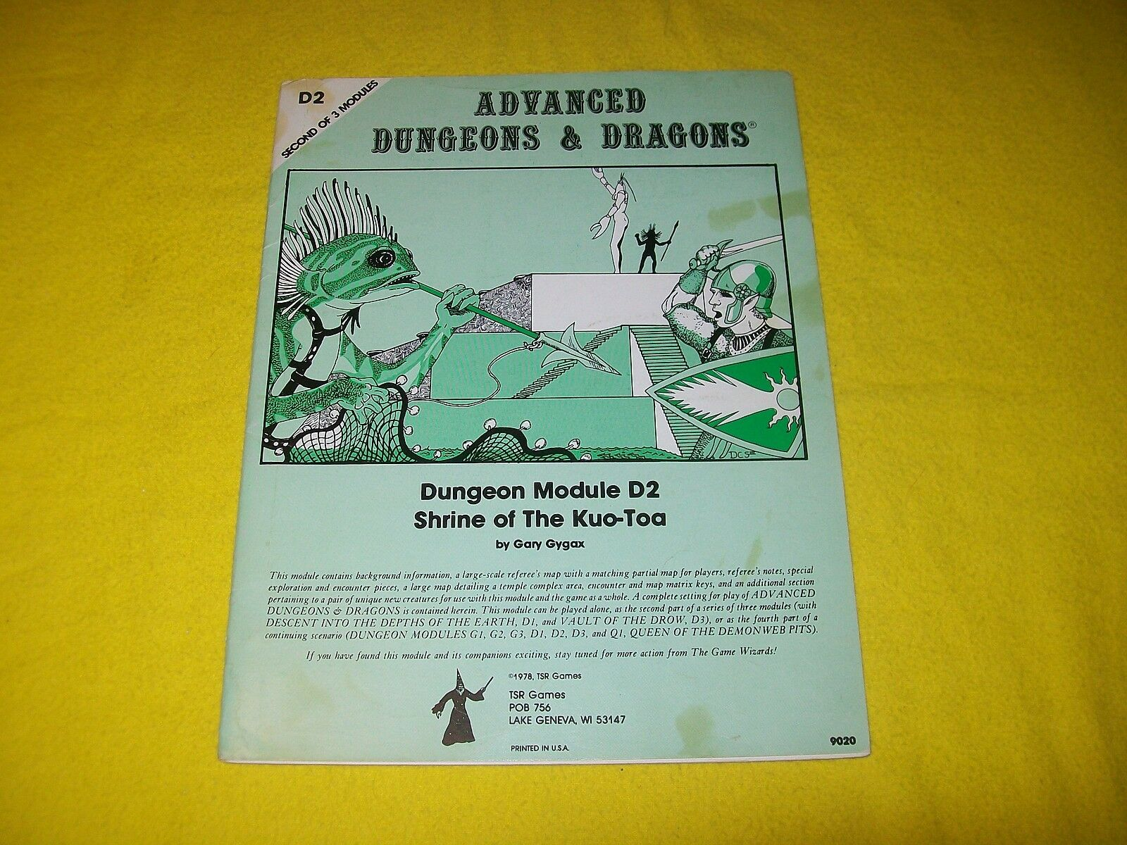 D2 SHRINE OF THE KUO-TOA DUNGEONS & DRAGONS TSR 9020 - 9 MONOCHROME 1ST PRINT