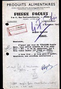 PARIS-VII-FOURNITURES-amp-PRODUITS-ALIMENTAIRES-034-Pierre-PAQUET-034-en-1945