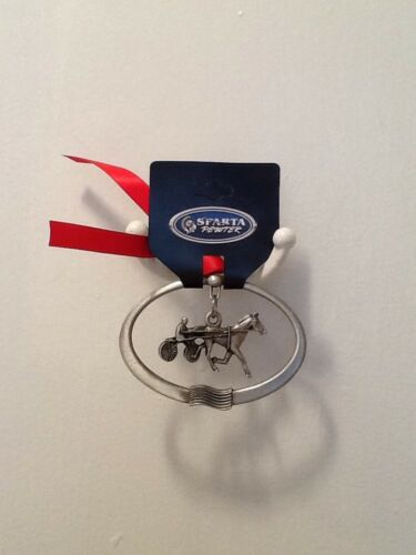 Pewter Harness Horse 2 Piece Ornament