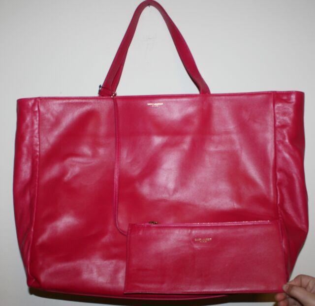 Yves Saint Laurent YSL Black Patent Leather Downtown Large Tote Bag ... c2e9eadf42