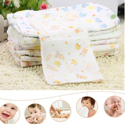 10Pcs Baby Newborn Gauze Muslin Square 100/% Cotton Boy Girl Bath Wash