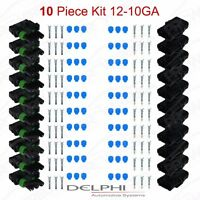 Delphi Weather Pack 3 Pin Sealed Connector Kit 12-10 Ga 10 Complete Kits