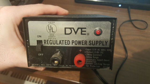 DVE Regulated Power Supply RPS 412 TESTED WORKS
