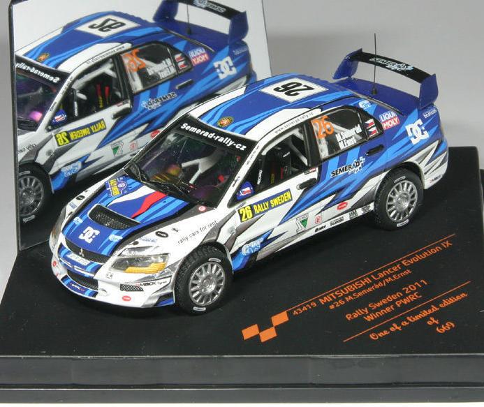 Mitsubishi Lancer Evolution IX Winner PWRC Rally Sveden 2011 43419 1 43 Vitesse