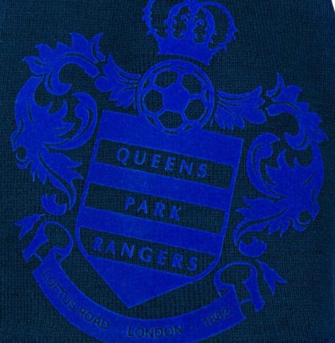 Queens Park Rangers FC Flock Big Club Crest QPR THICK Woolly Beanie Hat London