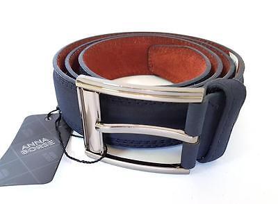Bene Ds Cinta Cintura Uomo Pelle Blu M1291 Elegante Glamour Fashion Alla Moda Hac