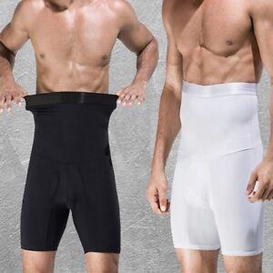 Les-hommes-amincissant-taille-haute-Body-Shaper-Tummy-Control-Culotte-Corset-Court-Sous-vetements