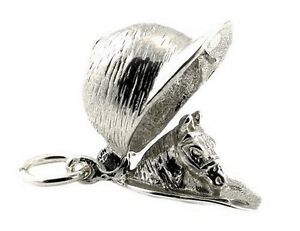 STERLING-SILVER-OPENING-HORSE-RIDER-S-CAP-CHARM