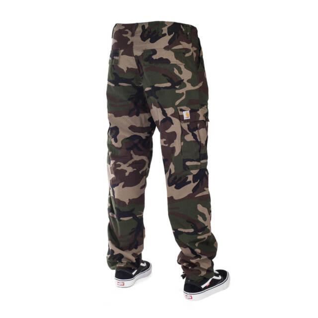 Liquidazione del 60% sito web professionale massimo stile Carhartt Regular Cargo Pant Camo Verde - Ripstop Pantaloni im Stampa  Mimetica 40/32