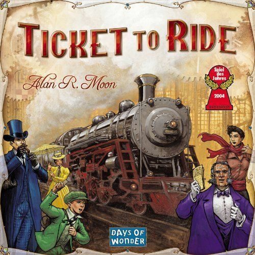 2-5 Players Ticket To Ride Game Board 240 Colored Train Cars Halloween Gift