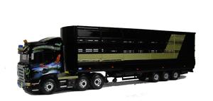 Corgi Moderno Pesado CC13734 Scania Houghton ganado John hulston 1 50