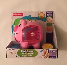 NIB Fisher-Price Laugh & Learn Smart Stages Piggy Bank Pink Pig