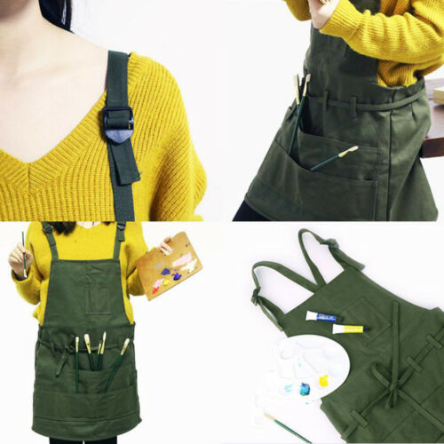 Cooking Gardening Painting Adjustable Canvas Apron Bib Apron for Crafting