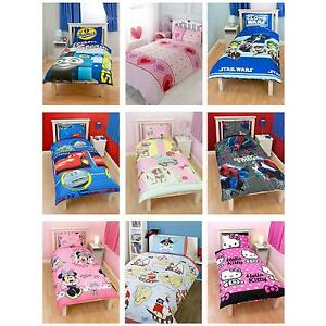 Childrens-Disney-and-Character-Single-Duvet-Cover-Sets-Kids-Bedding-Official