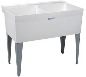New El Mustee Amp Son 27f Double White Deluxe Laundry Tub