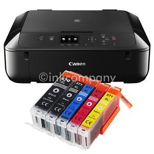 Canon-Pixma-MG-5750-Multifunktionsgeraet-DRUCKER-SCANNER-KOPIERER-mit-5x-XL-Tinte