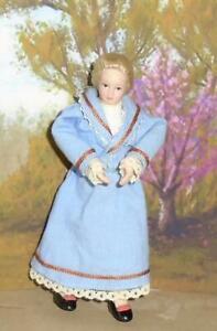 Fringant Professeur Gouvernante Mère Maison De Poupées Poupée En Porcelaine Victorian Edwardian Nouveau-afficher Le Titre D'origine