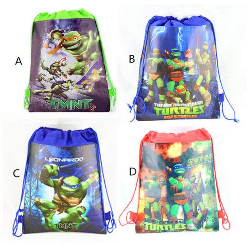 Cool Teenage Mutant Ninja Turtles Environmental Drawstring Backpack Kid Gift Bag