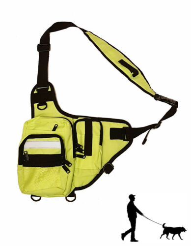 DOG WALKING BAG FA-14 PAC ruck sac back pack hi viz 3M reflective strip