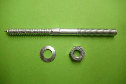 U-Scheibe DIN 125 // 9021 M 10 mit Mutter DIN 934-8 Stockschrauben verz 10 St