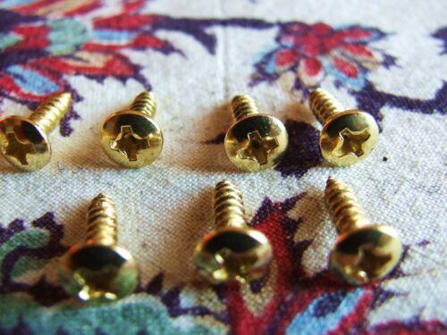 VIS PICKGUARD SCRATCHPLATE GOLD DORE LOT DE 12 POUR FENDER GIBSON GRETSCH