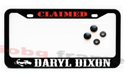Daryl Dixon Claimed Black license plate frame Screw Caps WALKING DEAD FANS