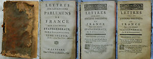 B-LETTRE-SUR-LES-ANCIENS-PARLEMENTS-DE-FRANCE-Boulainvilliers-1753-2-tomes