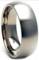 Boxed Mens 8mm Brushed Titanium Wedding Engagemet Band Ring-unisex